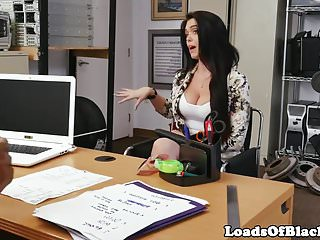 Auditioning curvy novice enjoys cum in mouth
