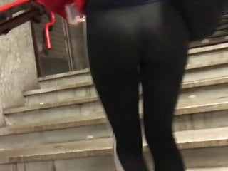 TEEN IN SEE THROUGH LEGGINGS -PART 1