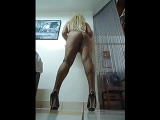 my yummy sissy booty in fishnets and heels