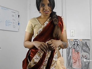 HornySouth Desi step sister in legislation roleplay in Tamil with subs