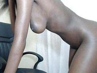 Erotic ebony slut good tremendous titties spreads ass cheeks presents box