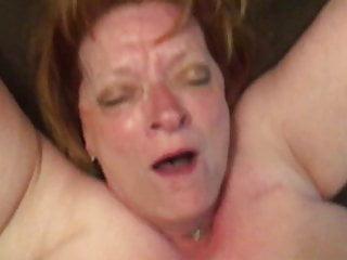 Mega big tit granny cums on black cock