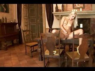 Brandy Smile masturbation on table