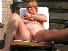 housewife plays in garden with herselffree full porn