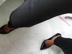 Cumshot Over Lydias Legs In Leggings