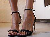 Sexy mature feet in kitchen...2