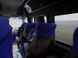 Masturbation bus way home from...