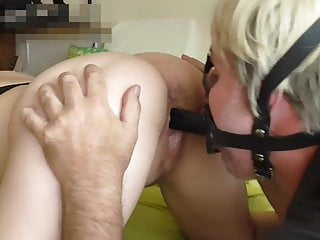 Face sitting slave fucking me in face mask...