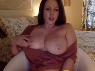 cum girl American big masturbate tits and with
