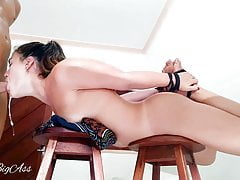 Oral creampie on chair extreme throat throat -aprilbigass-
