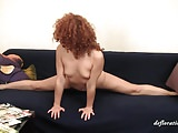 Zadova with her ginger hair enjoys her body and pussy