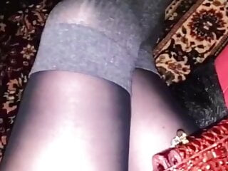 Spunking On Her Sexy Nylons Hot Legs 4K Cum Tribute 2