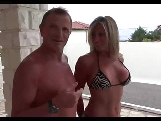 French swinger sabrina fuck in the pool ! 2019