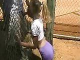 BJ through a fence (RARE)