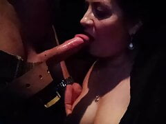 In Adult Cinema with my sexy wife