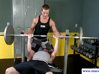 Muscular cut hunks rimming and drilling ass...