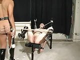 Girl in latex being abused by her master