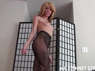 your in fishnets new cock JOI to my Stroke me
