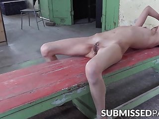 satisfaction and gagged Submissive pussy babe for bound