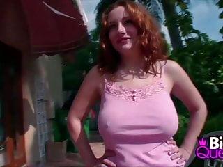 Redhead Rebecca Exposing Her Sweet Big Tits