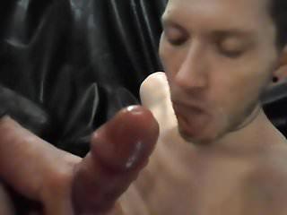 Sucks my juicy cock...