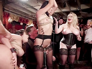 glitter BDSM swingers electro with & beatings orgy