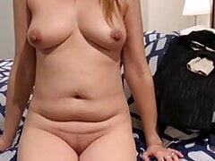 Beautiful Nude Cougar On Bed