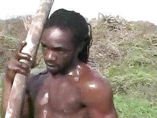 Handsome Black Man Masturbarting 3