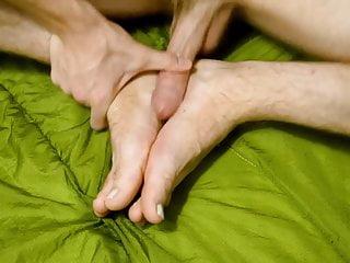 Foot fucking footjob foot massaging on feet...