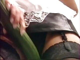 Veggie anal play