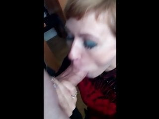 Employee deepthroating in the office