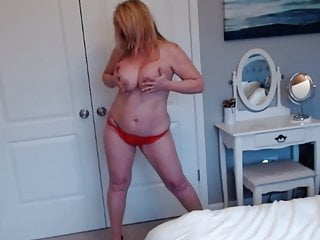 Wife strips for cam...