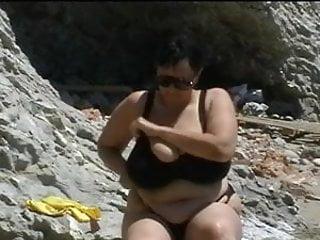 German boobs outdoors...