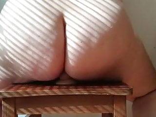 Bbw wife a huge dildo...