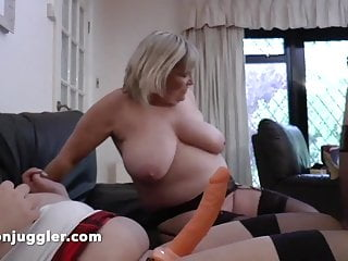 Busty sarah jane fucks two older bbw women...