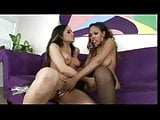 Hot brunette gets her tits licked by Lacey Duvalle