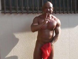 Str8 japanese muscle jerk amp cum public...