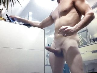 Muscle guy hung cock...