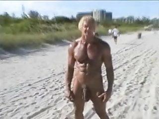 70 year old bodybuilder beach...