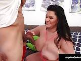 Cuban BBW Angelina Castro Sucks & Fucks Puerto Rock's Cock!