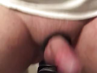 Bathroom self fuck, cumming for the third time in a row