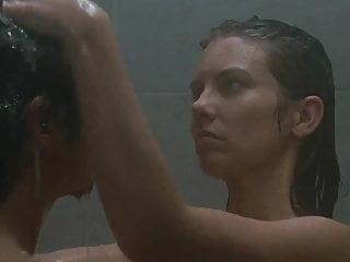 AMWF Lauren Cohan USA Woman Interracial Shower Korean Man