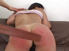 Shy Woman Is Undressed Naked And Spanked In Exposing Positions