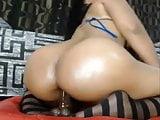 Curvy Latina masturbating