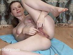 Milasha enjoys naked time after she irons away