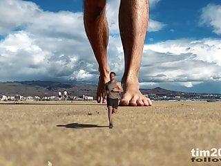 My giant feet crushing tiny man – macrophilia fetish