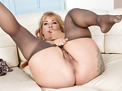 hairy milf joclyn stone gets turned on in pantyhosefree full porn
