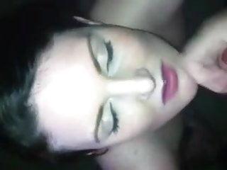 british girlfriend getting a facial