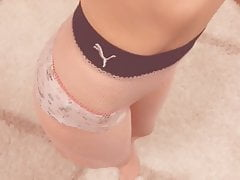My old unicorn panties – TOO GOOD for my shaved pussy