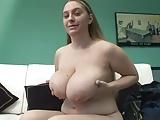 Chubby girl with big boobs show us her masturbation skills